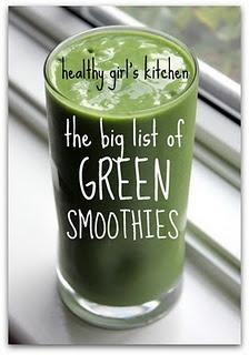 a Great List of Green Smoothies!!