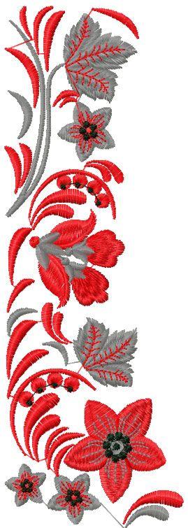 Цветочное оформление бесплатно вышивка 51 - Цветы бесплатно станкостроения вышивки - Машинная вышивка сообщество