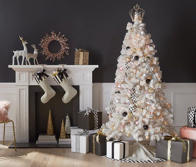 Christmas Decor Walmart Com White Artificial Christmas Tree Artificial Christmas Tree Realistic Christmas Trees