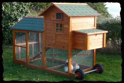 Poulailler Mobile Chicken House Poulailler Pinterest