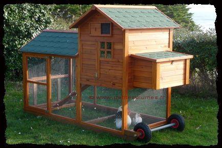 Poulailler mobile chicken house poulailler pinterest for Mobile hen house plans