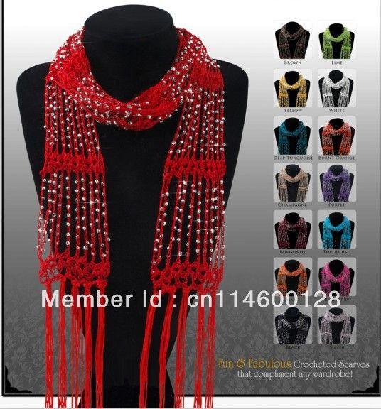 9 Best Beaded Crochet Scarf Images On Pinterest Knit Crochet
