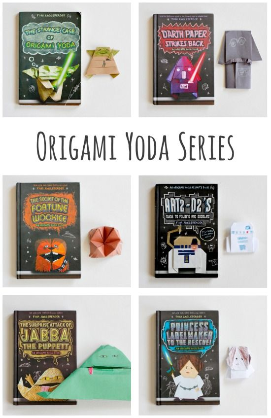 The Origami Yoda Series with Star Wars Puppets - from @Make and Takes