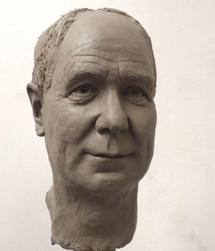 'Steve'  Clay portrait head, modelled by Zoe Wilson