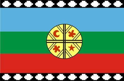 En la Bandera (Wenufoye), Amarillo (chod):representa la renovación; símbolo del sol. Azul (kallfü):representa espiritualidad o lo sagrado. Blanco (lüq): prosperidad y la sabiduría. Rojo (kelü): Representa historia de lucha del y la memoria de este pueblo. Verde (karü): representa la fertilidad,; símbolo de lo femenino. Cultrún (kultrung), tambor mapuche; que representa la superficie de la Tierra, cosmovisión mapuche:símbolo del conocimiento del mundo. Guemil, (cruz) representa  el…