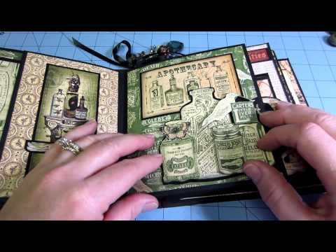 Jan 2015 G45 Olde Curiosity Shoppe Mini Album Tutorial: Handicraft Ideas