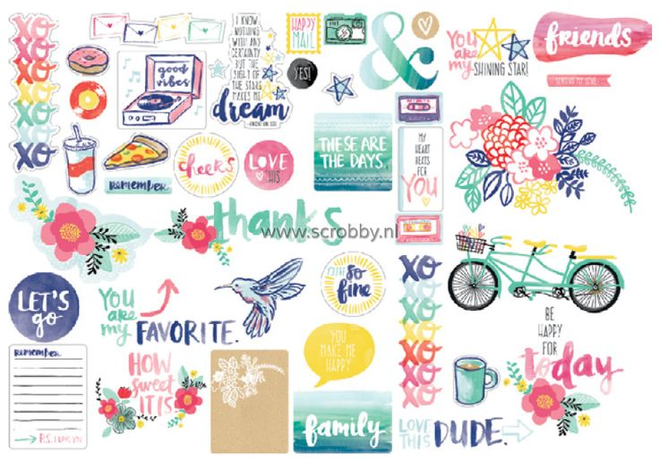 American Crafts Amy Tangerine Better Together Ephemera | €4.50