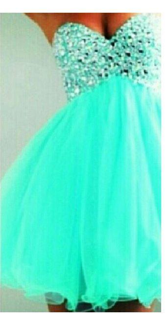 Tiffany blue prom dress