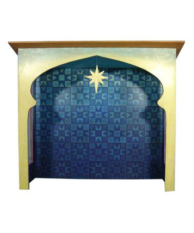 Another great find on #zulily! Blue Figurine Nativity Stable by Jim Shore #zulilyfinds