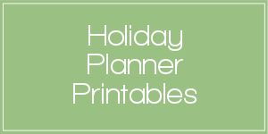 A collection of free printables to help you put together a holiday planner: Checklists, Greeting Cards, Mailing Lists, Gift Giving, Decorations, Baking and Menu Planning