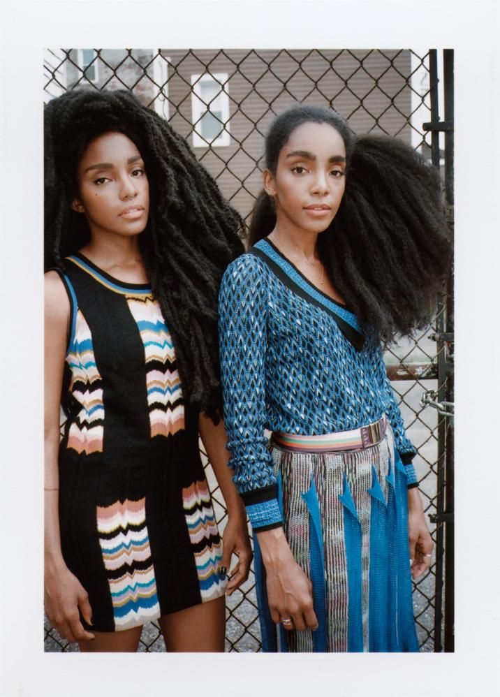 Cipriana and Takenya Quann Photo by Rolando Viola - Missoni