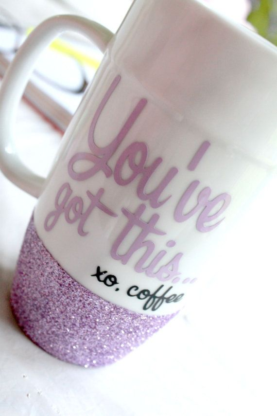 Glitter Coffee Mug  Coffee Lovers Gift  by MonogramRevolution