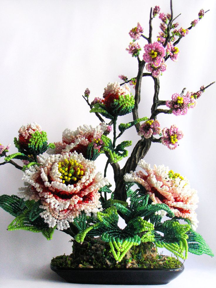 44 best images about bead flower arrangements on