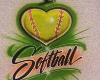 Personalized softball shirt, airbrush shirt, softball mom shirt, softball jersey, softball shirts, softball coach gift, birthday shirt,