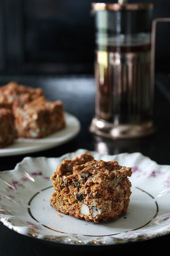 Superfood Cake Bars | Veggie Desserts Blog These superfood cake bars are packed with nuts, seeds, dried fruit – from hazelnuts and pecans, to goji berries and hempseed. They make a filling snack or a healthier sweet treat.