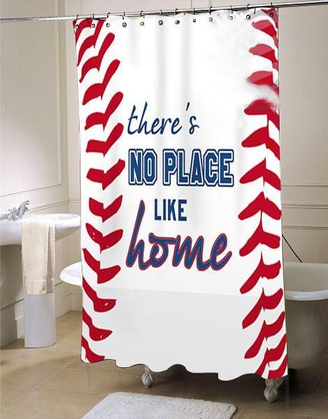 Customized a special Baseball Shower Curtain Sports Bathroom Decor Fabric  Shower Curtain Baseball Bathroom collage shower. Best 25  Baseball bathroom ideas on Pinterest   Baseball bathroom