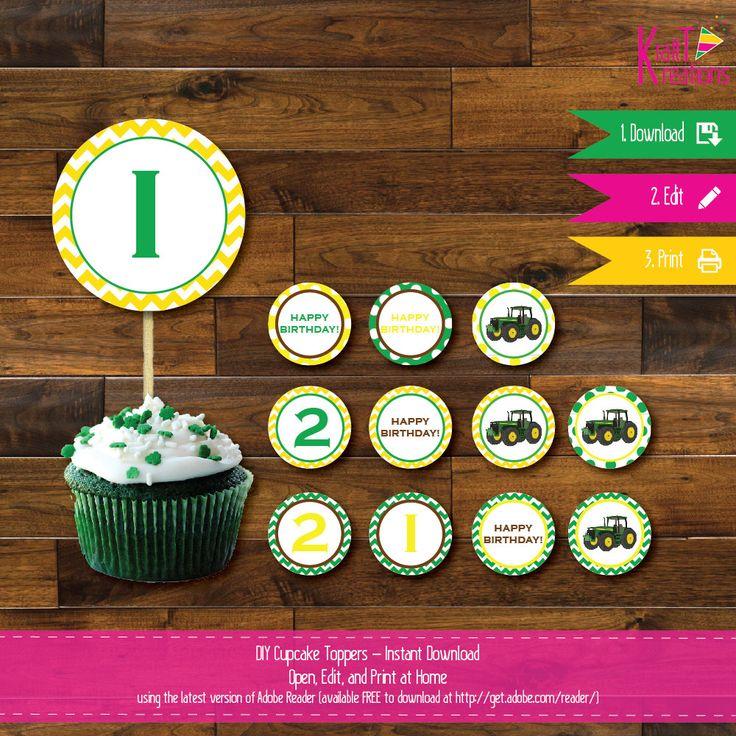 Tractor Cake Decorations Uk : 1000+ ideas about John Deere Cupcakes on Pinterest John ...
