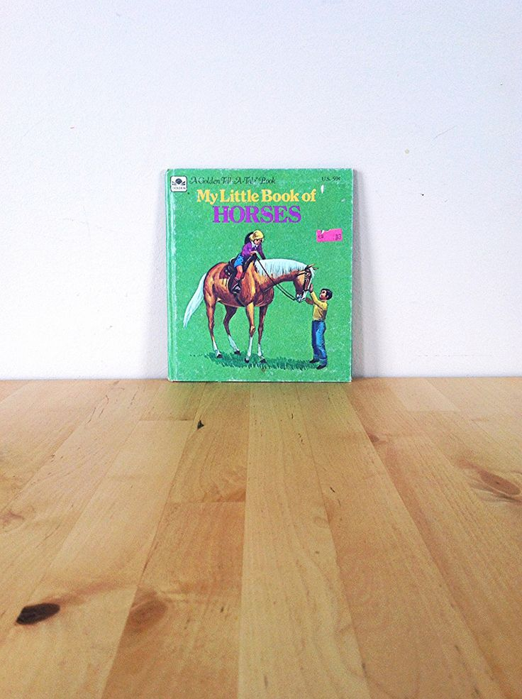 Vintage Horse Book for Children | My Little Book of Horses A Golden Tell A Tale Book | 1970s Retro Kids Book All About Horses Cute Farm Read