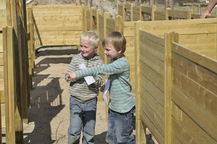 Drenge i Rømø børnelabyrint