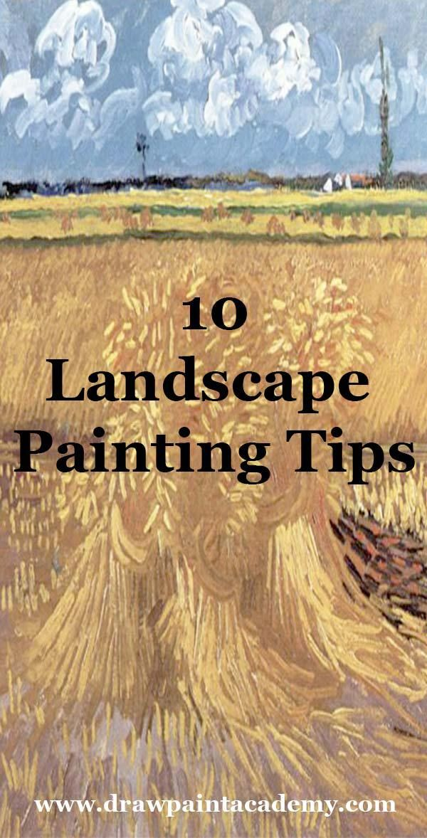Check out these landscape painting tips perfect for beginners. These are 10 simple and actionable tips which you can use in your next landscape painting.
