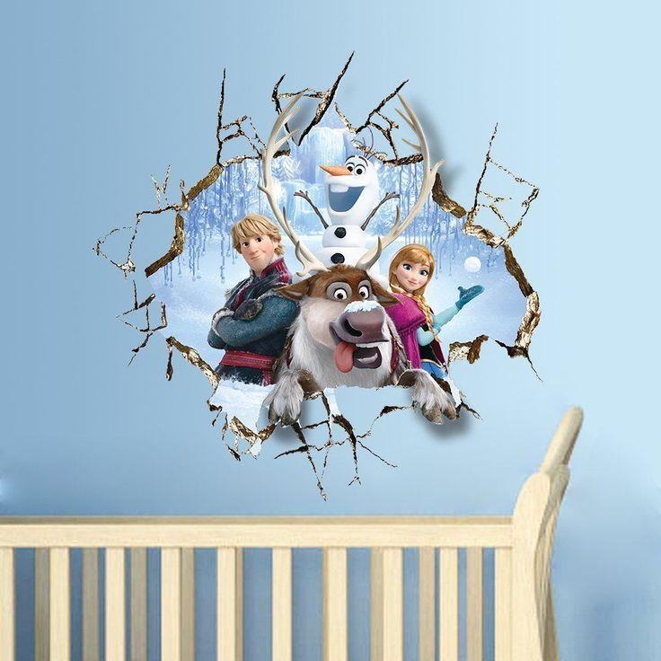 Frozen Kinderzimmer 3d Sticker Eiskönigin Frozen Anna Kristoff Olaf Wandtattoo Schöne Wanddeko Für Das Kinde Babyzimmer Wandaufkleber Plakatwand 3d Sticker
