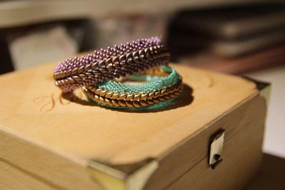 Elegant Two-Tone Handmade Beaded Fish Bone by LittleHeaven4You