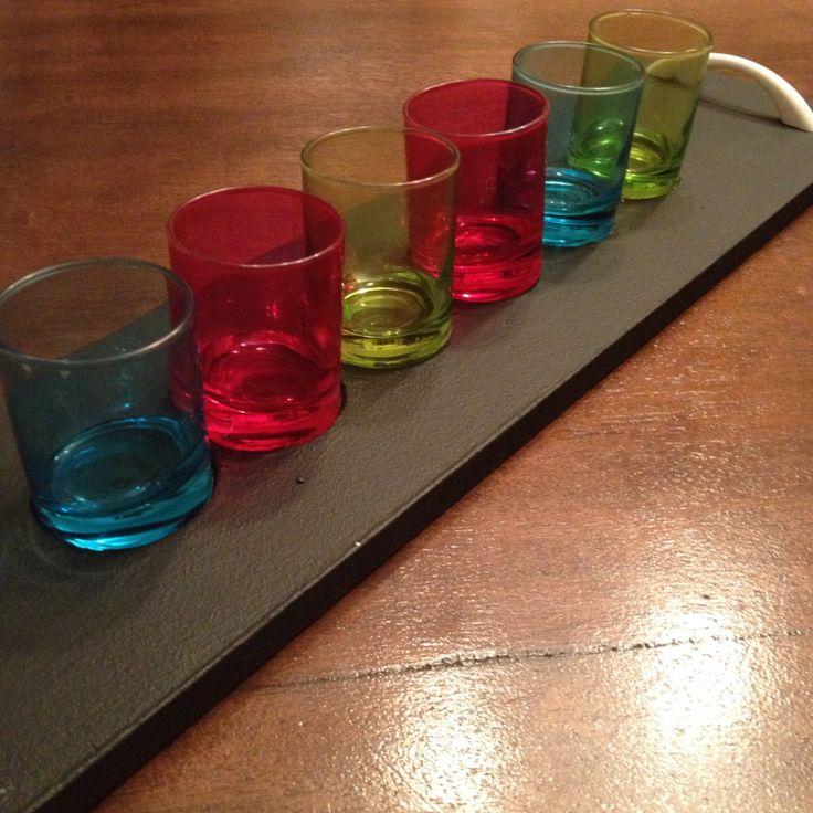 Taca na kieliszki do wódki | Hiacynt w doniczce