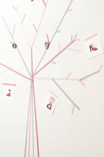 washi tape decoration tree wall