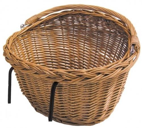 Klassisk bastkurv til å ha foran på sykkelstyret eller bak på bagasjebæreren.Kroker til å feste kurven til sykkelstyre eller bagasjebærer er inkludert.Størrelse 43*30*28cm