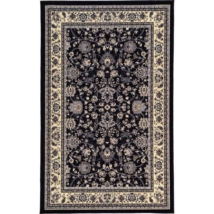Mclaren Floral Black Area Rug Black Area Rugs Unique Loom Area Rugs