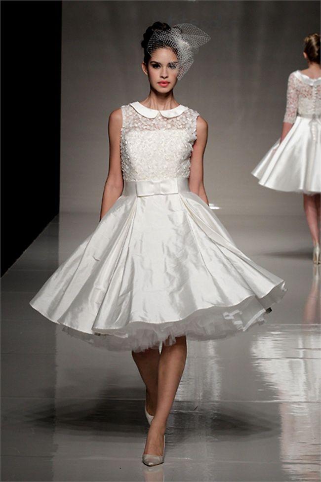 Amato Vestiti Da Sposa Corti Anni 50 ~ Migliore collezione Inspiration  DC71