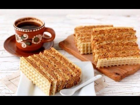 ▶ Торт без выпечки вафельный торт простой рецепт торта без выпечки торт со сгущенкой тортов рецепт - YouTube