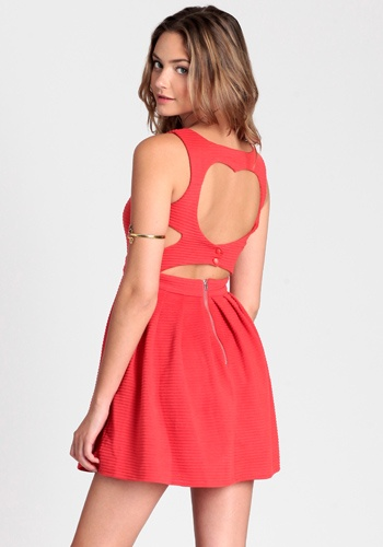 Heart Cut Out Dress ~plus, the arm cuff is cute!