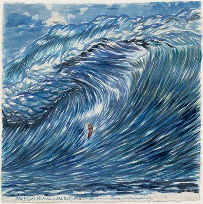 "Raymond Pettibon.   No Title (The bright flatness).   2003.   Watercolor on paper, 39 x 38 1/2"" (99.1 x 97.8 cm)."