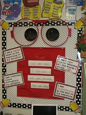 Writer's Eye:  Looks like a useful and cute tool!Schools, Writing Center, Writing Process, Bulletin Boards, Writers Eye, Bulletinboards, Classroom Ideas, Kindergarten Blog, Eye Glasses