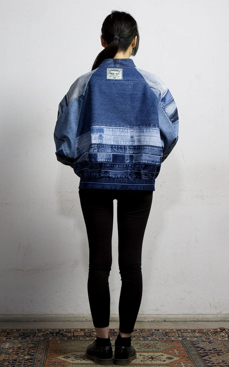 Artic Bomber Jacket Medium Blue | Fade Out Label | NOT JUST A LABEL