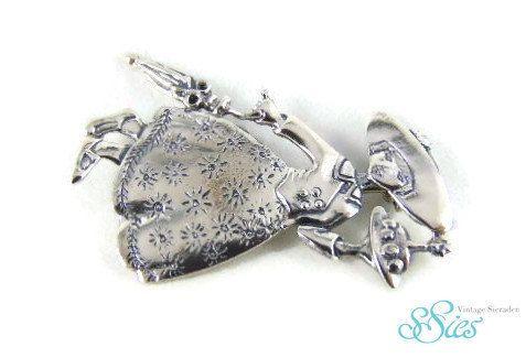 Mooie MARY POPPINS 925 zilveren broche Mary ENGELBREIT! by ssiesvintagesieraden on Etsy