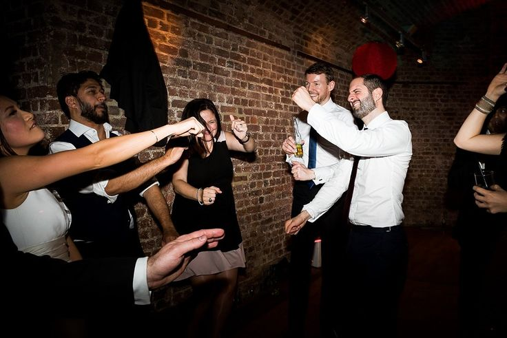 Fun wedding dance floor with Mighty Fine Entertainment RSA House London © Fiona Kelly Photography