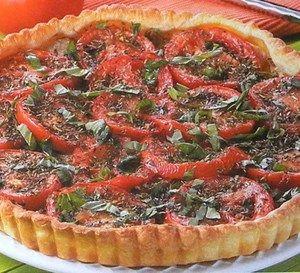 Recette Tarte provençale avec des tomates fraiches.