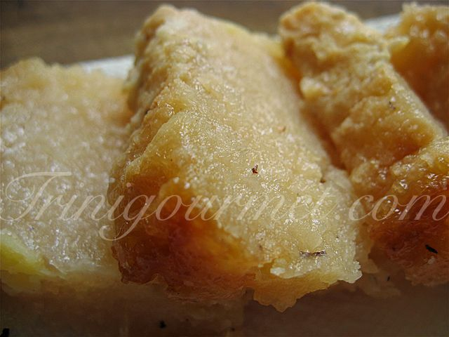 Cassava Pone -  Pones are usually made from root vegetables. You can also make them with carrots, sweet potatoes and pumpkin.