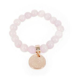 Love From Venus Rose Quartz and Rose Gold Bracelet on www.lilyandmitchell.com.au
