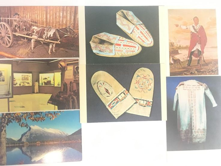 Vtg Native American Canadian Indian Postcards 7 Traditional Costumes Clothes 09