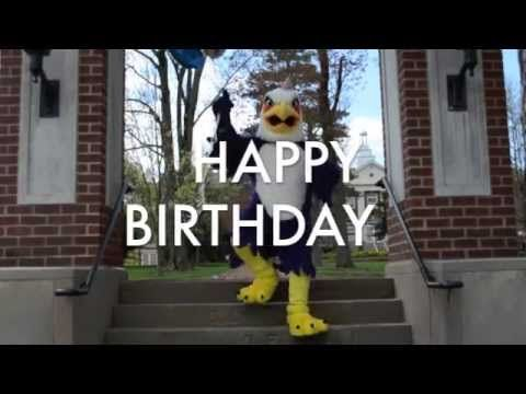 """Happy Birthday from Tuffy: """"Ashland University's mascot Tuffy sends out his Happy Birthday wishes through his favorite dance songs! Created by Ashland University Admissions, this video is sure to make you laugh."""" - Published 5/28/13"""