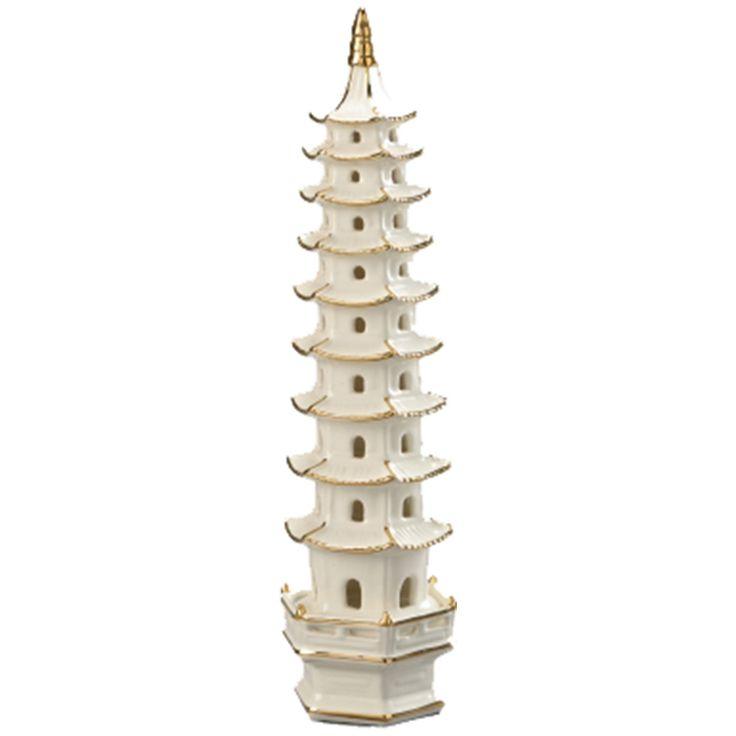 Chelsea House Cream Ceramic Pagoda