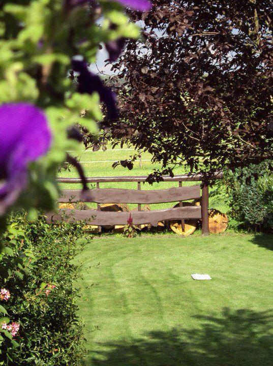 Vanaf de veranda uitkijkje op het landhek