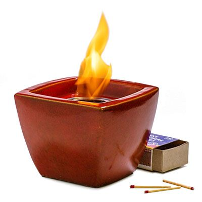 Table Top Ceramic Fire Bowl | Tabletop Fire Pot as Fire Pit