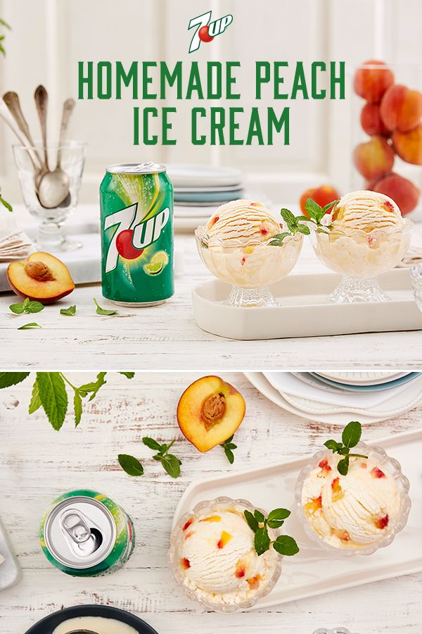 Peach Ice Cream from 7UP: This smooth and creamy treat, packed with peachy flavor, is perfect for any occasion, from birthdays to backyard BBQs.
