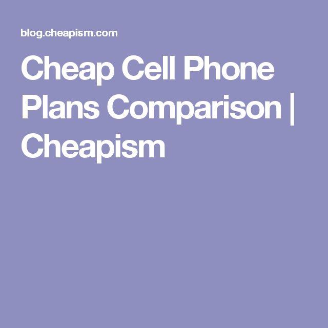 Cell phone plan deals comparison