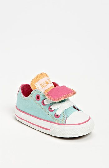 97dd91362a79 Tiny Converse! I could just eat these up and the little feet that go in  them!! Converse Chuck Taylor® Double Tongue Sneaker (Baby ...