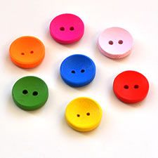 Solid Colour Wooden Beads for R40/150 Buttons per pack.  These are so cool, just add them to any of your own home desings | Paradise Creative Crafts cc